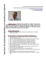 Catalin Vasilescu, Conferentiar, medic primar chirurg, doctor in ...