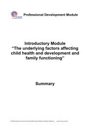 Summary - The underlying factors affecting child health - The Royal ...