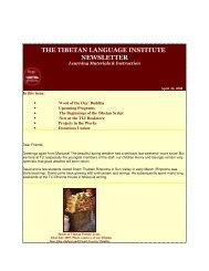 Spring 2008 - Tibetan Language Institute Website