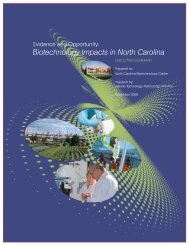 Untitled - North Carolina Biotechnology Center