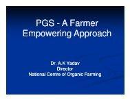 Farmer Empowerment - National Centre of Organic Farming