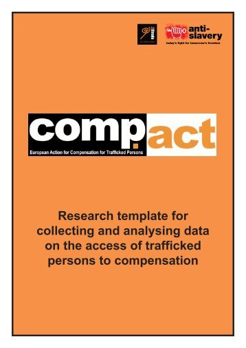 Research template for collecting and analysing data on the access ...
