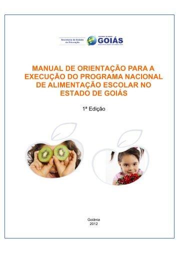 Manual - Merenda Escolar - Secretaria da Educação