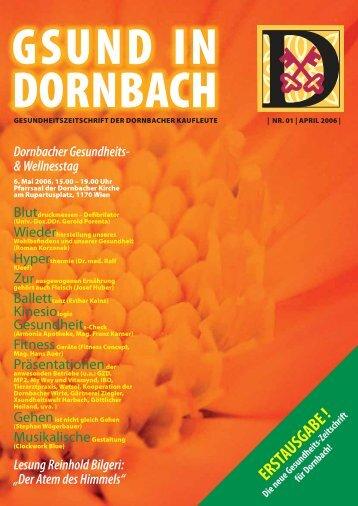 ERSTAUSGABE ! - Gsund in Dornbach
