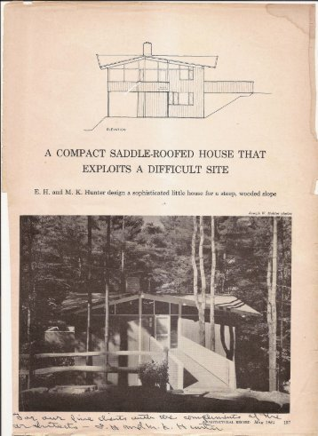 May 1964 - Triangle Modernist Houses