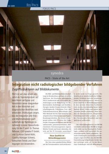 Krankenhaus IT Journal   PACS - synedra