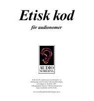 Etisk kod för Audionomer - SRAT