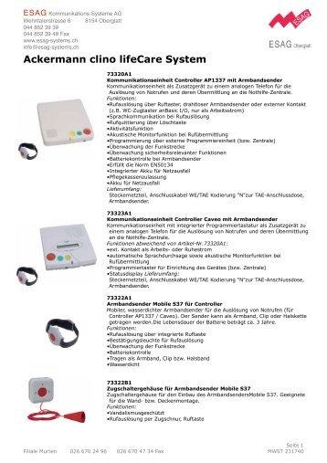 Patientenruf_files/Beschreibung clino_lifeCare.pdf - ESAG