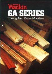 Wadkin GA Planer Moulder Literature
