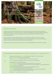 """Wälder der Zukunft Wälder der Zukunft """"Sielmann ... - Treffpunkt Wald"""