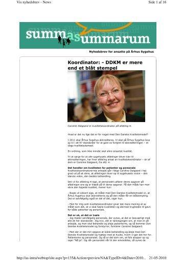 Koordinator: - DDKM er mere end et blåt stempel - Aarhus ...
