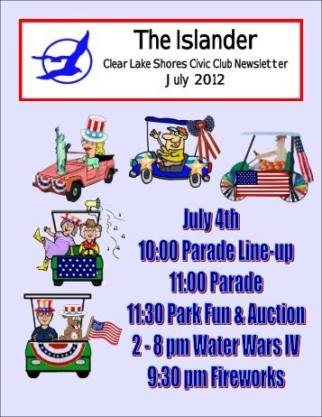 July 2012 - Clear Lake Shores Civic Club