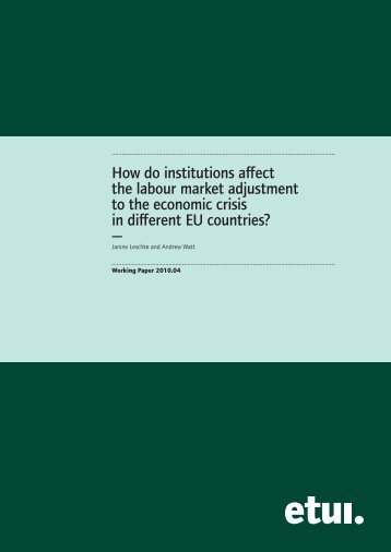 How do institutions affect the labour market adjustment to the ...