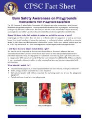 CPSC Publication 3200: Playground Burn Fact Sheet - Consumer ...