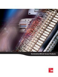 Termination/Wired Access Products - VoxTechnologies