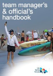 Team Managers and Officials handbook - Life Saving Victoria