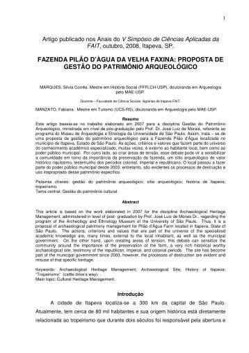 fazenda pilão d'àgua da velha faxina - IHGGI - Instituto Histórico ...