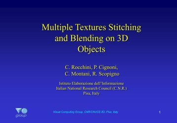 Multiple Textures Stitching and Blending on 3D Objects - Rocchini's ...