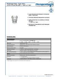Diaphragm Seal - Type 7410 - - Hengesbach GmbH & Co. KG