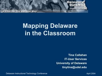 Mapping - Delaware Center For Educational Technology