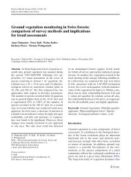 Ground vegetation monitoring in Swiss forests: comparison of ... - WSL