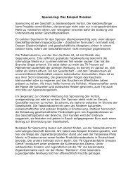 Sponsoring: Das Beispiel Dresden Sponsoring ist ein Geschäft zu ...