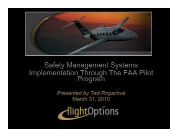 Safety Management Systems Implementation ... - signalcharlie
