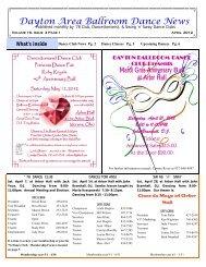16 04 April 2012 Newsletter - Ballroom Dance Dayton