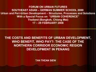 THE COSTS AND BENEFITS OF URBAN DEVELOPMENT, WHO BENEFIT, WHO PAY ...