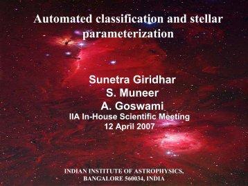Automated classification and stellar parameterization