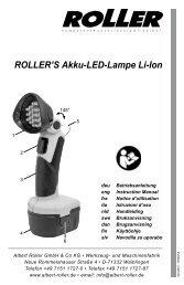 ROLLER'S Akku-LED-Lampe Li-Ion - Albert Roller