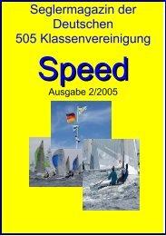 Die Speed 2/2005 als PDF - Deutsche 505er Klassenvereinigung