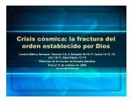 Crisis cósmica: la fractura del orden establecido por Dios