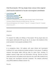 Oral fluconazole 150 mg single dose versus intra-vaginal ...