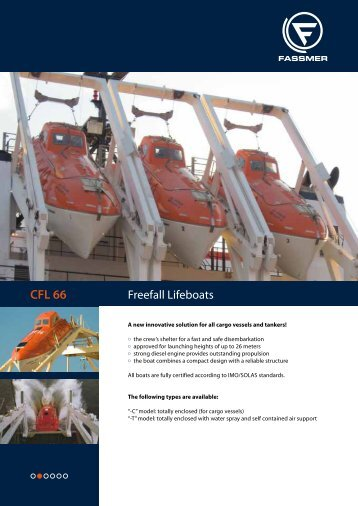 CFL 66 Freefall Lifeboat (PDF I 287 KB) - Fr. Fassmer GmbH & Co. KG