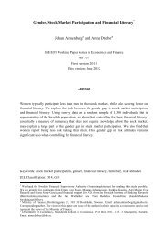 Gender, Stock Market Participation and Financial ... - S-WoPEc