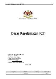 DASAR KESELAMATAN ICT KKR - Kementerian Kerja Raya Malaysia