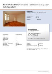 BIETERVERFAHREN: Vermietete 1 Zimmerwohnung in der ...