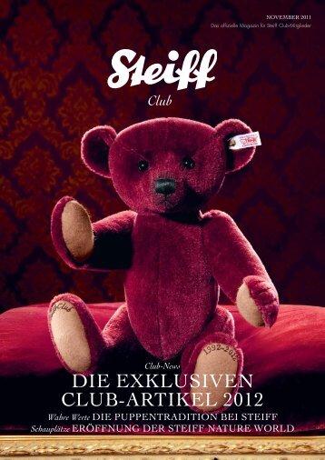 DIE EXKLUSIVEN CLUB-ARTIKEL 2012 - Steiff