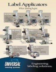 Label Applicators - Universal Labeling Systems, Inc.