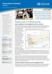 OCHA Yemen Humanitarian Bulletin Issue 32 - 9 October to 5 November 2014