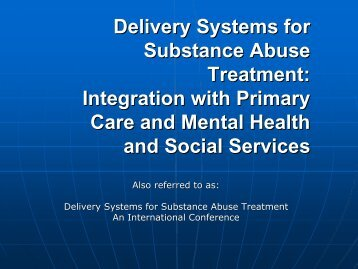 Delivery Systems for Substance Abuse Treatment - UCLA Integrated ...
