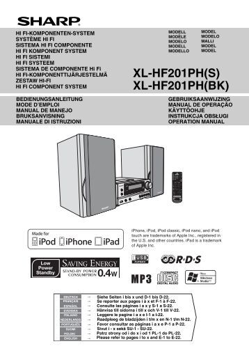 XlHfPh OperationManual Gb  Sharp