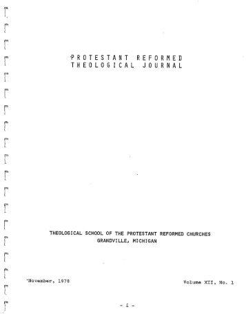 November 1978 (pdf) - Protestant Reformed Churches in America