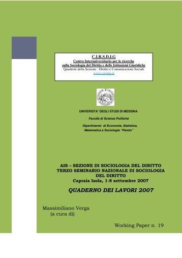 Quaderno dei lavori 2007 (Atti del Terzo Seminario ... - Cirsdig