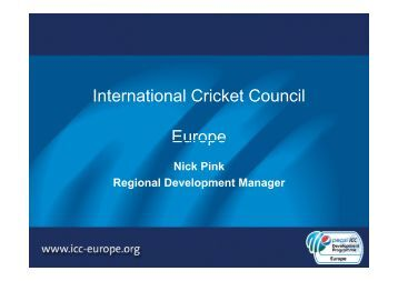 International Cricket Council Europe - The Irish Sports Council