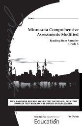 Reading MCA-Modified Grade 5 Item Sampler - Minnesota ...