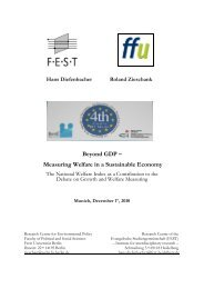 Beyond GDP – Measuring Welfare in a Sustainable Economy