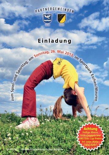Einladung Spiel - Gemeinde Eschen-Nendeln