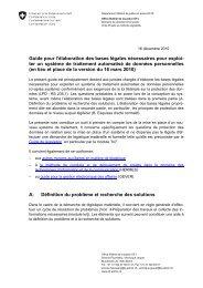 Guide pour l'élaboration des bases légales nécessaires ... - admin.ch